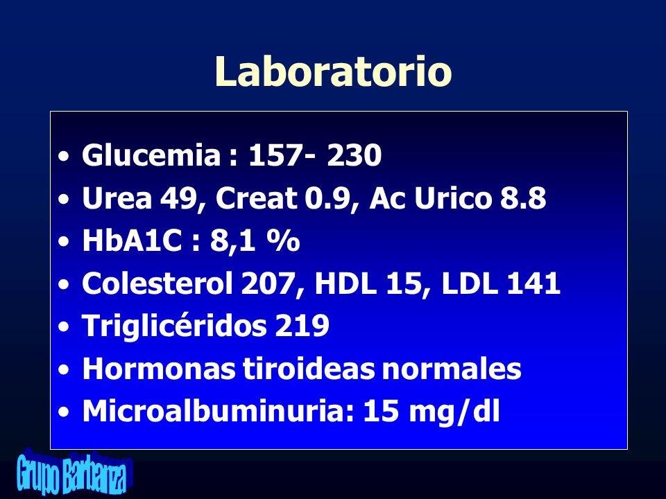 Diagnósticos Insuficiencia cardiaca congestiva Diabetes tipo 2 Dislipemia diabética HTA.