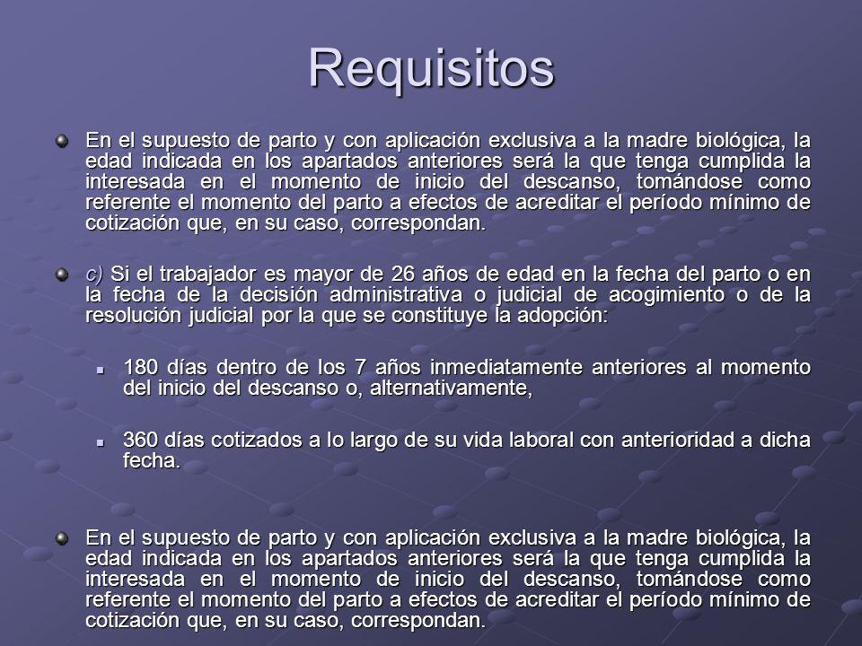Prestación económica La prestación económica consiste en un subsidio equivalente al 100% de la base reguladora correspondiente.