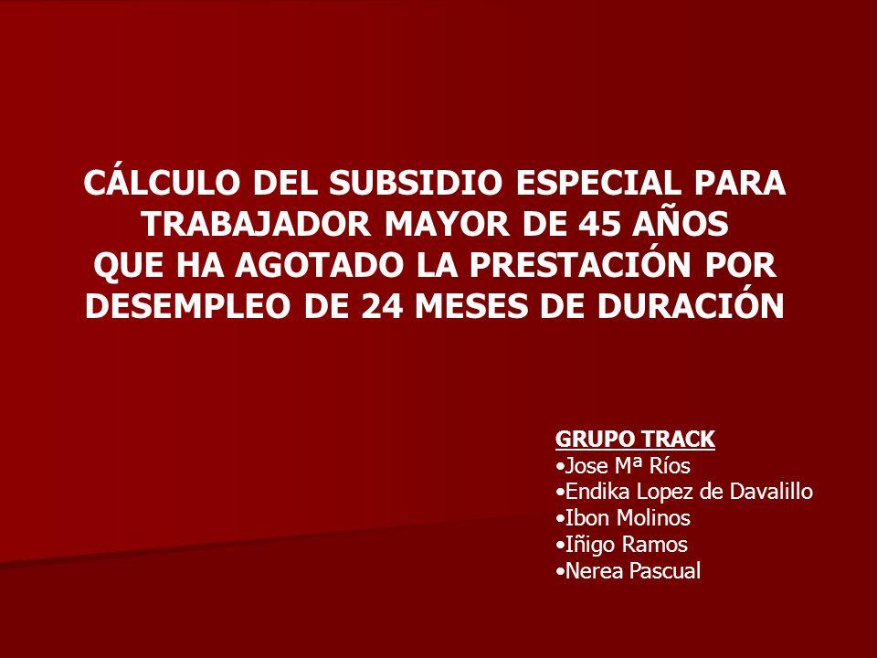 NORMATIVA APLICADA: Ley General de la Seguridad Social. Real Decreto 625/1985 de 2 de abril.