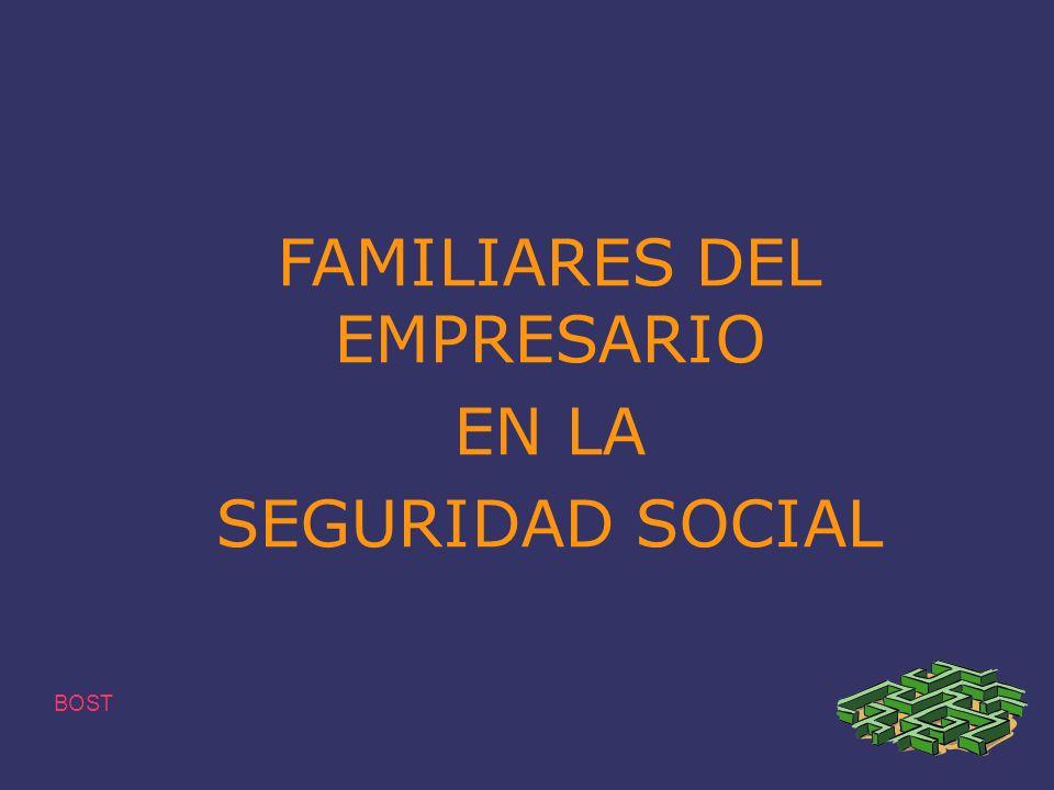 FAMILIARES DEL EMPRESARIO EN LA SEGURIDAD SOCIAL BOST
