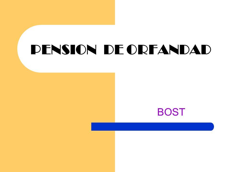 PENSION DE ORFANDAD BOST
