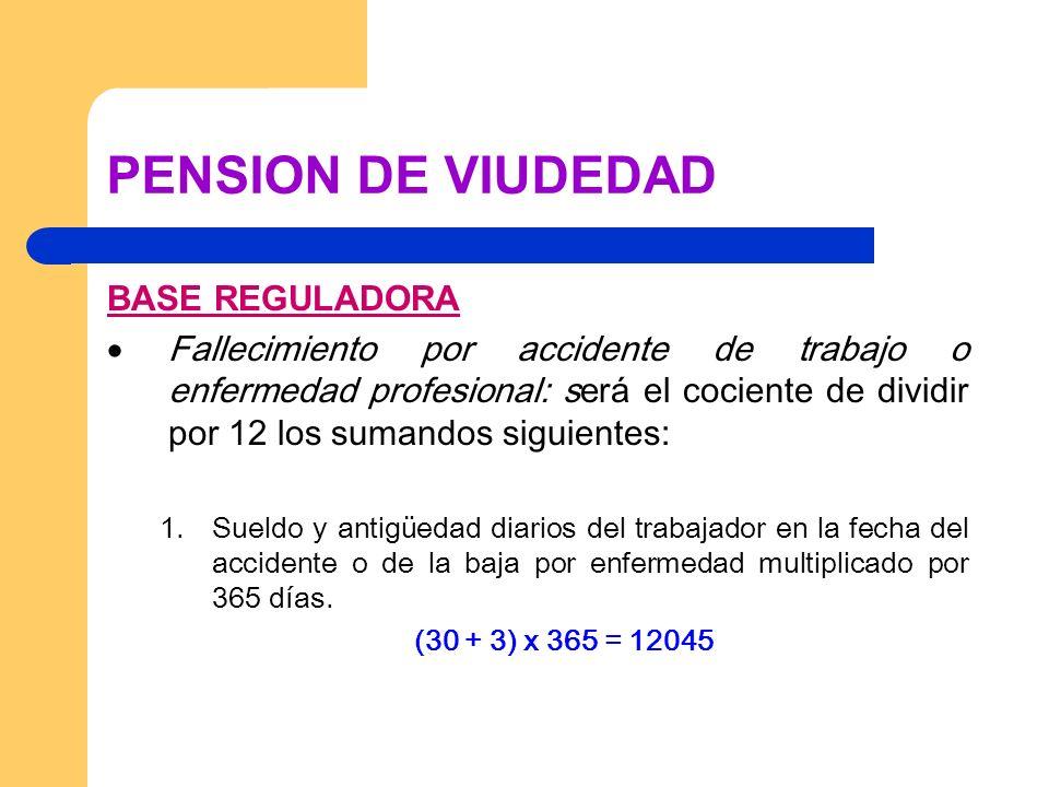 PENSION DE VIUDEDAD GESTION El Instituto Nacional de la Seguridad Social (INSS), con carácter general.