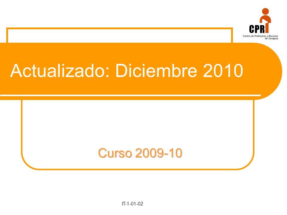 Curso 2009-10 IT-1-01-02 Actualizado: Diciembre 2010