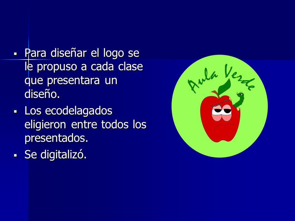 Para diseñar el logo se le propuso a cada clase que presentara un diseño. Para diseñar el logo se le propuso a cada clase que presentara un diseño. Lo
