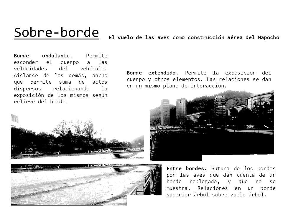 Sobre-borde El vuelo de las aves como construcción aérea del Mapocho Borde ondulante.