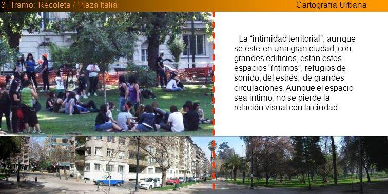 Cartografía Urbana3_Tramo: Recoleta / Plaza Italia _Cambio de identidad del espacio