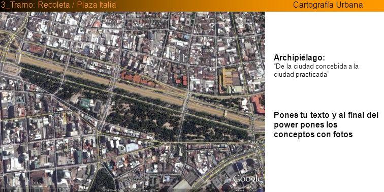Cartografía Urbana3_Tramo: Recoleta / Plaza Italia _ El espacio público urbano no es un lugar, sino un tener lugar ,