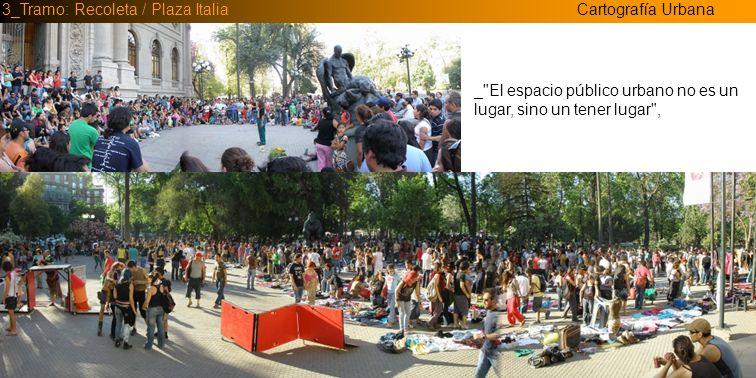 Cartografía Urbana3_Tramo: Recoleta / Plaza Italia _Cultura urbana: conjunto de maneras de vivir en espacios urbanizados.
