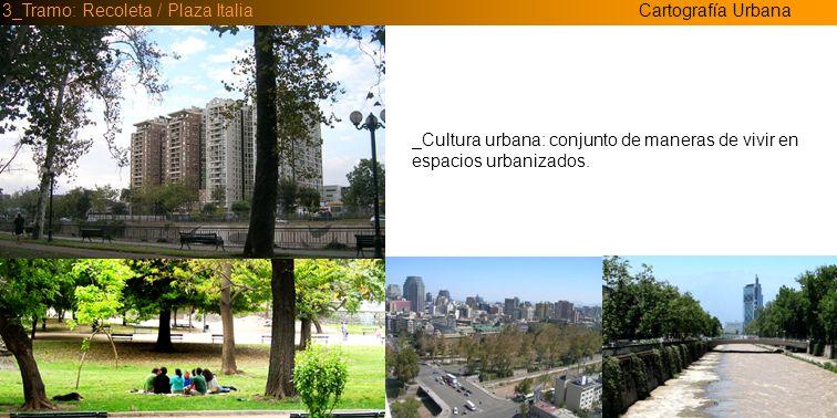 Cartografía Urbana3_Tramo: Recoleta / Plaza Italia _Cultura urbanística: asociada a la estructuración de las territorialidades urbanas.