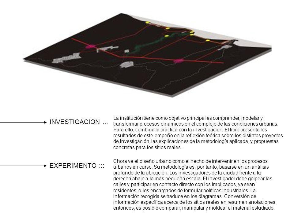 INVESTIGACION ::: EXPERIMENTO ::: La institución tiene como objetivo principal es comprender, modelar y transformar procesos dinámicos en el complejo