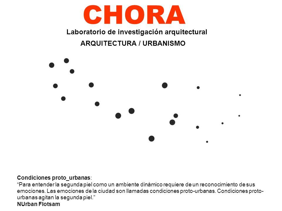 CHORA Condiciones proto_urbanas: Para entender la segunda piel como un ambiente dinámico requiere de un reconocimiento de sus emociones. Las emociones