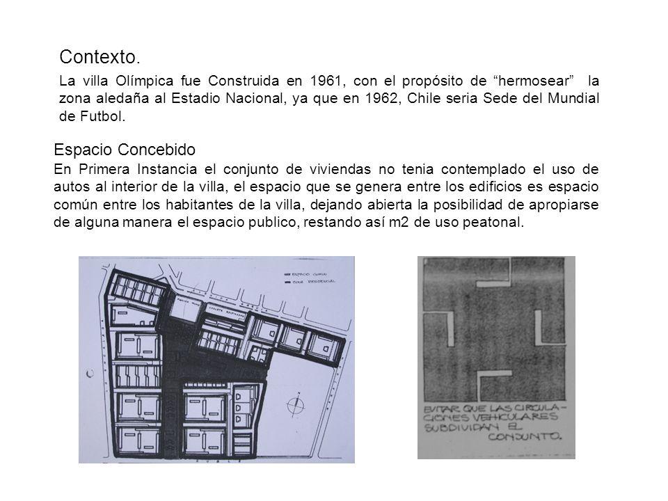 La villa Olímpica fue Construida en 1961, con el propósito de hermosear la zona aledaña al Estadio Nacional, ya que en 1962, Chile seria Sede del Mund