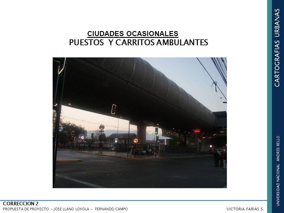 UNIVERSIDAD NACIONAL ANDRES BELLO CARTOGRAFIAS URBANAS CORRECCION 2 PROPUESTA DE PROYECTO - JOSE LLANO LOYOLA - FERNANDO CAMPO VICTORIA FARIAS S. CIUD