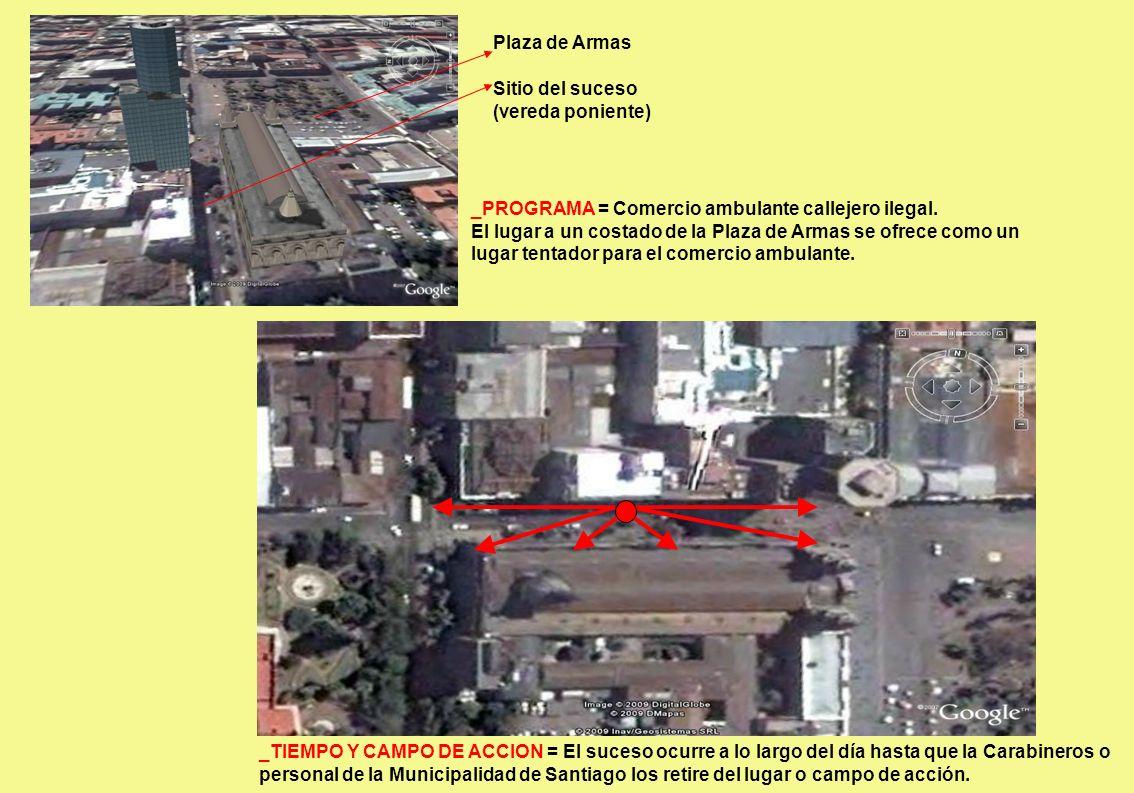 _PROGRAMA = Comercio ambulante callejero ilegal. El lugar a un costado de la Plaza de Armas se ofrece como un lugar tentador para el comercio ambulant