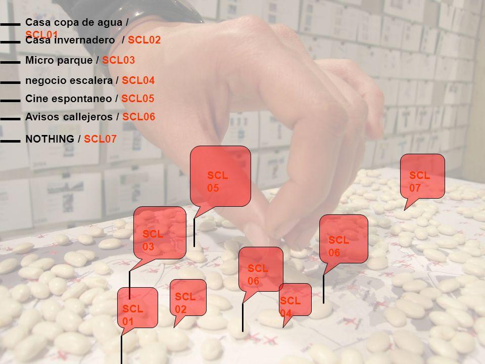 NOTHING / SCL07 SCL 01 SCL 02 SCL 03 SCL 04 SCL 05 SCL 06 SCL 07 Avisos callejeros / SCL06 Cine espontaneo / SCL05 negocio escalera / SCL04 Micro parq