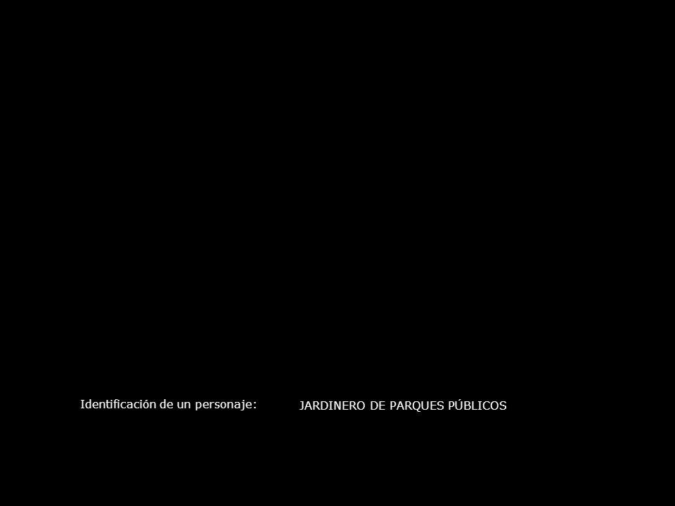 Identificación de un personaje: JARDINERO DE PARQUES PÚBLICOS
