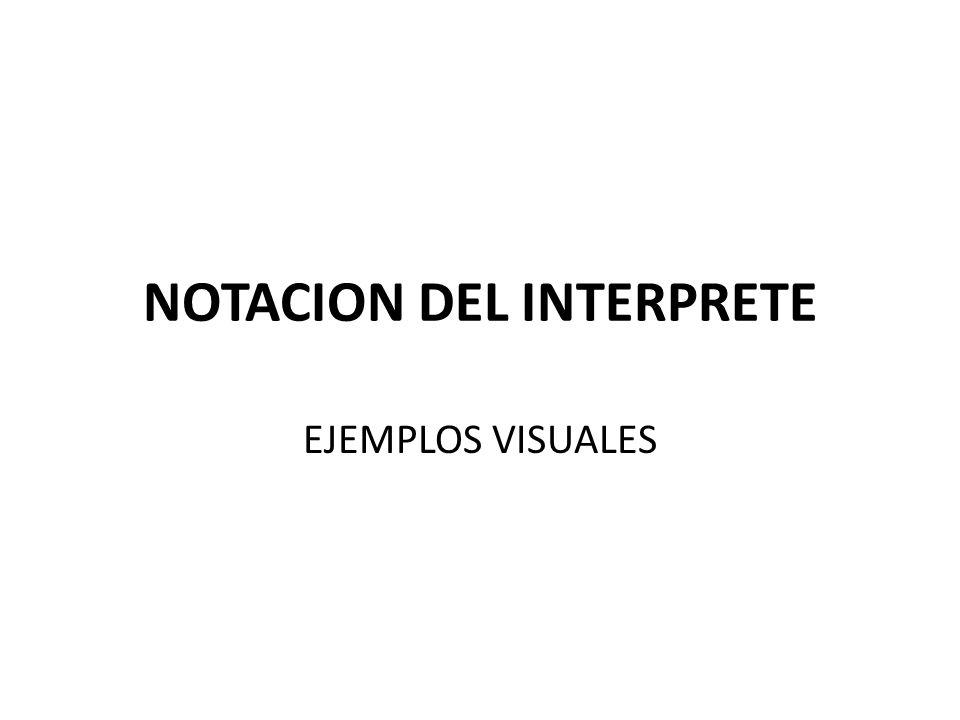 NOTACION DEL INTERPRETE EJEMPLOS VISUALES