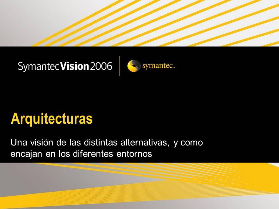 Arquitecturas Una visión de las distintas alternativas, y como encajan en los diferentes entornos