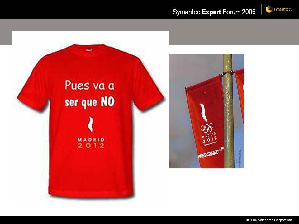© 2006 Symantec Corporation Symantec Expert Forum 2006 VERITAS Cluster Server y Oracle RAC Local SAN Clustering Uso de una SAN para montar un cluster local de hasta 8 nodos