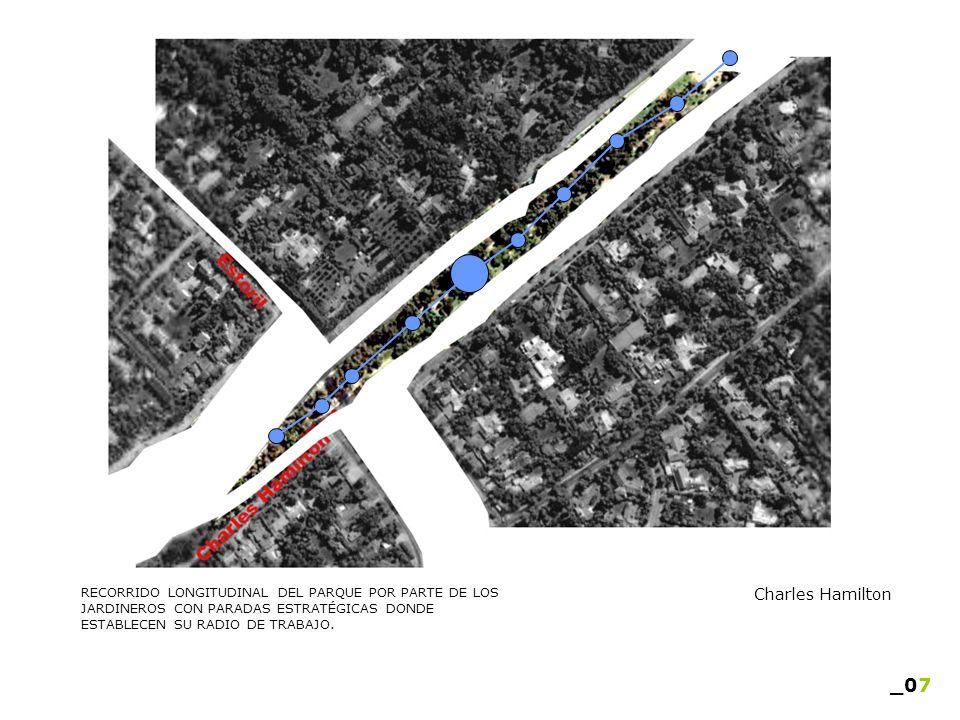 RECORRIDO LONGITUDINAL DEL PARQUE POR PARTE DE LOS JARDINEROS CON PARADAS ESTRATÉGICAS DONDE ESTABLECEN SU RADIO DE TRABAJO. _07