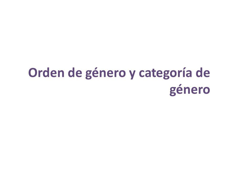 Orden de género y categoría de género