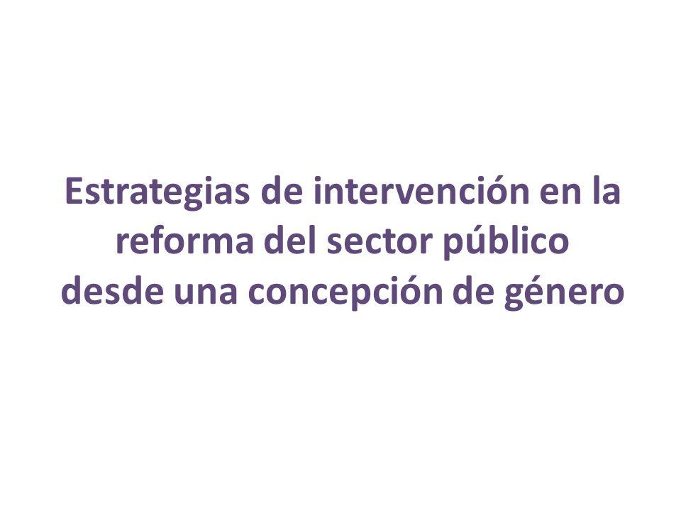Estrategias de intervención en la reforma del sector público desde una concepción de género