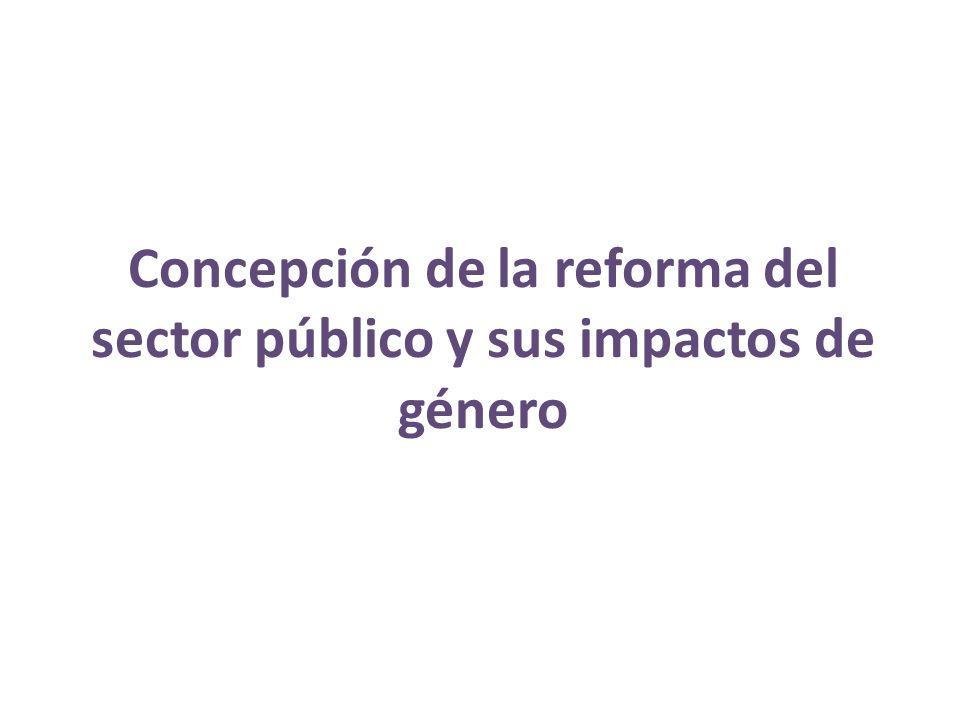 Concepción de la reforma del sector público y sus impactos de género