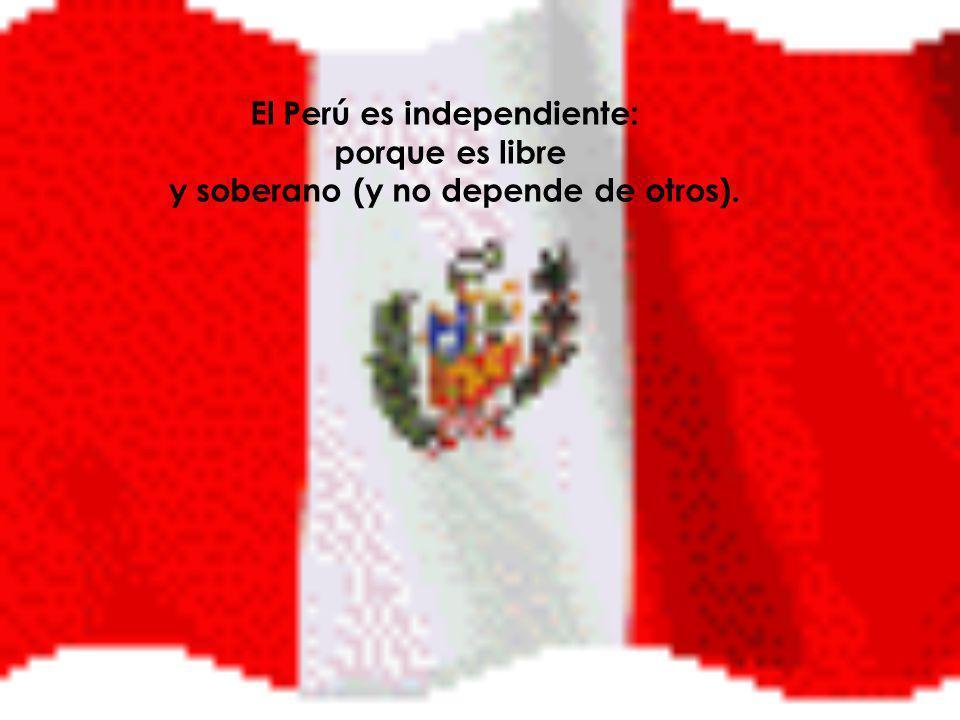 Ésta es la nación a la que pertenezco, ésta es la visión del Perú que yo tengo: no es una visión indigenista, hispanista ni otra, sino una visión peruanista: