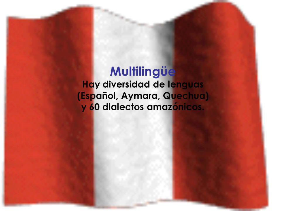 Pluricultural: tenemos varias culturas: la occidental, la africana, la asiática, la oceánica, la cultura andina. La cultura peruana es la mezcla de to