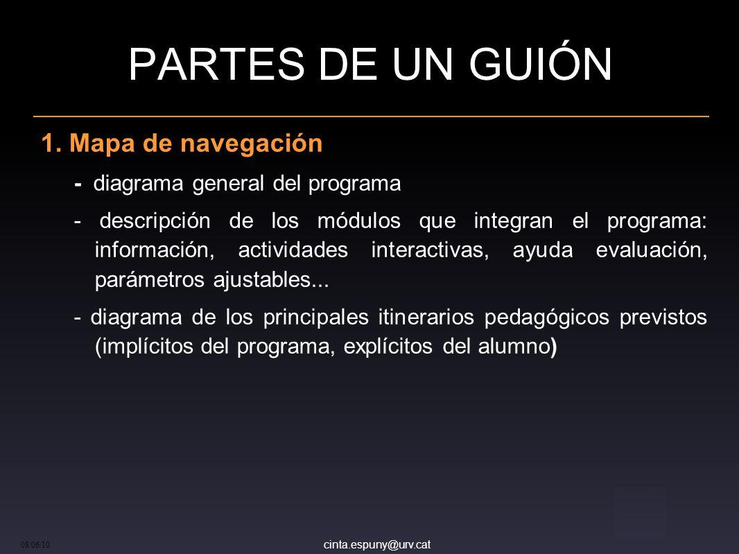 cinta.espuny@urv.cat 08/06/10 PARTES DE UN GUIÓN 1.