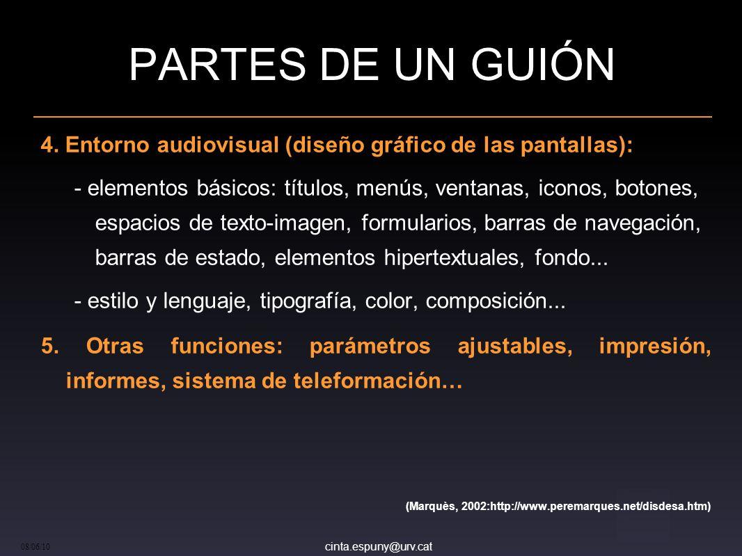 cinta.espuny@urv.cat 08/06/10 PARTES DE UN GUIÓN 4.