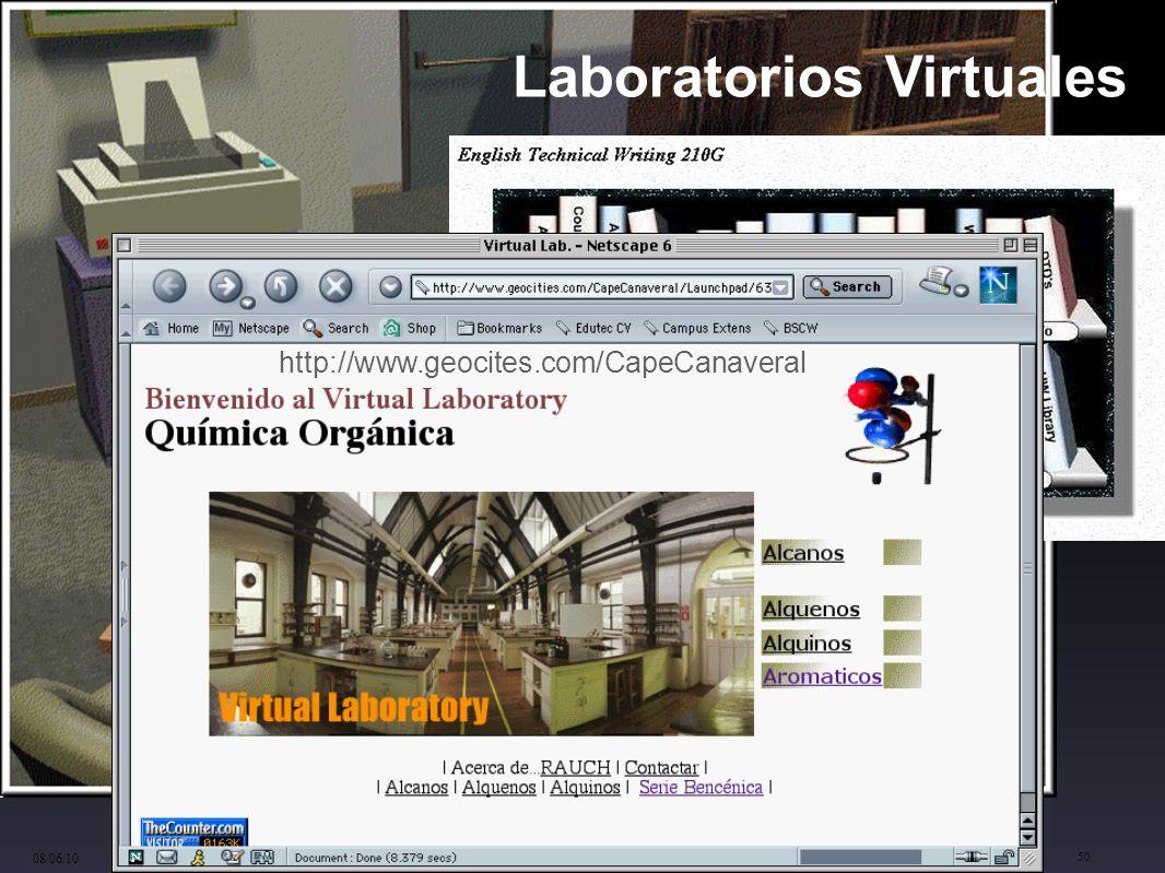 cinta.espuny@urv.cat 08/06/10 50 Laboratorios Virtuales http://www.geocites.com/CapeCanaveral