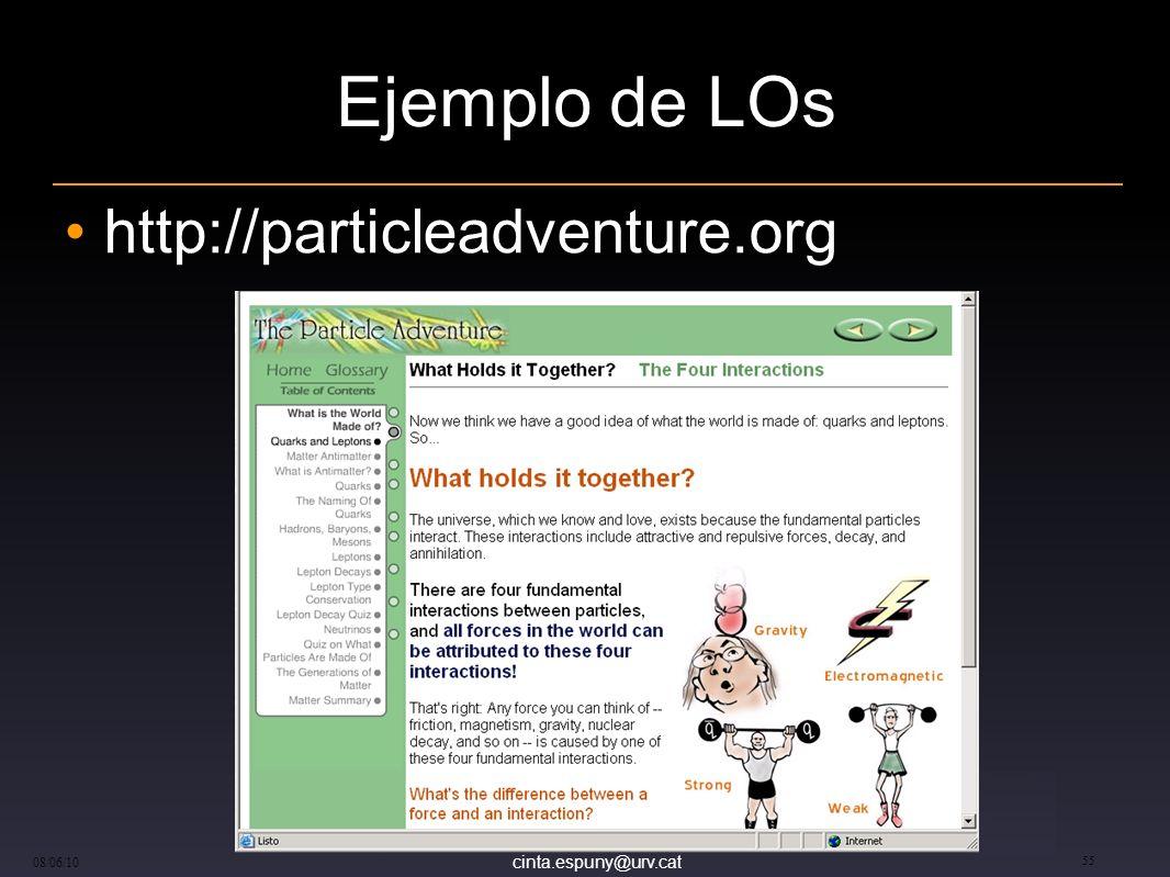 cinta.espuny@urv.cat 08/06/10 55 Ejemplo de LOs http://particleadventure.org