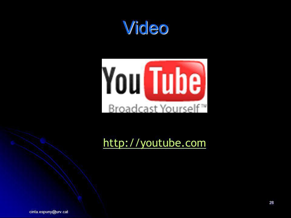 cinta.espuny@urv.cat 28 Video http://youtube.com