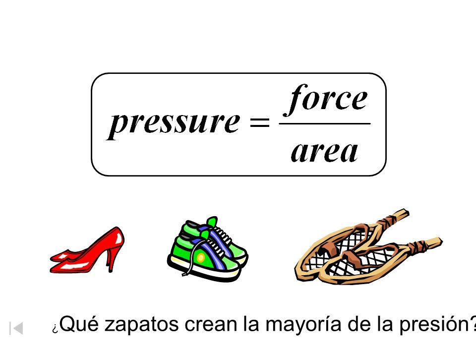Presión ¿ Qué zapatos crean la mayoría de la presión?