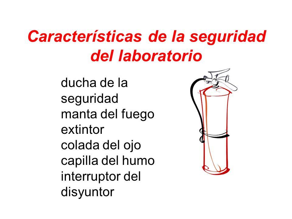 Características de la seguridad del laboratorio ducha de la seguridad manta del fuego extintor colada del ojo capilla del humo interruptor del disyunt