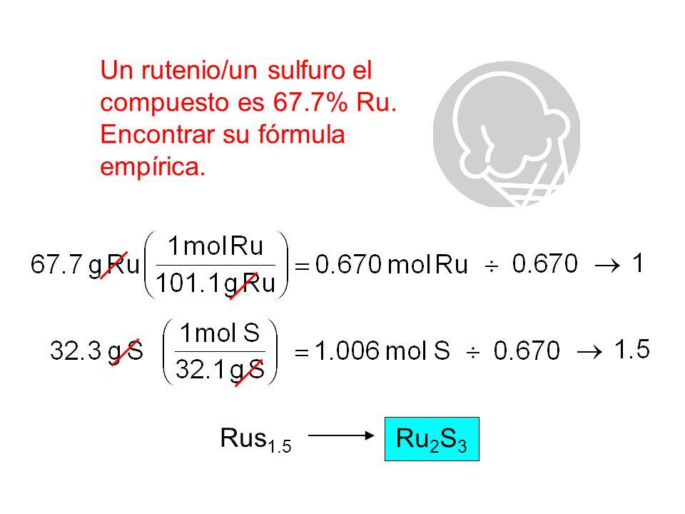 Una muestra de 17.40 g de a compuesto del tecnetio/del oxígenocontiene 11.07 g de Tc.