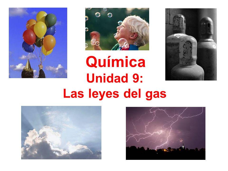 Unidad 9: Las leyes del gas Química