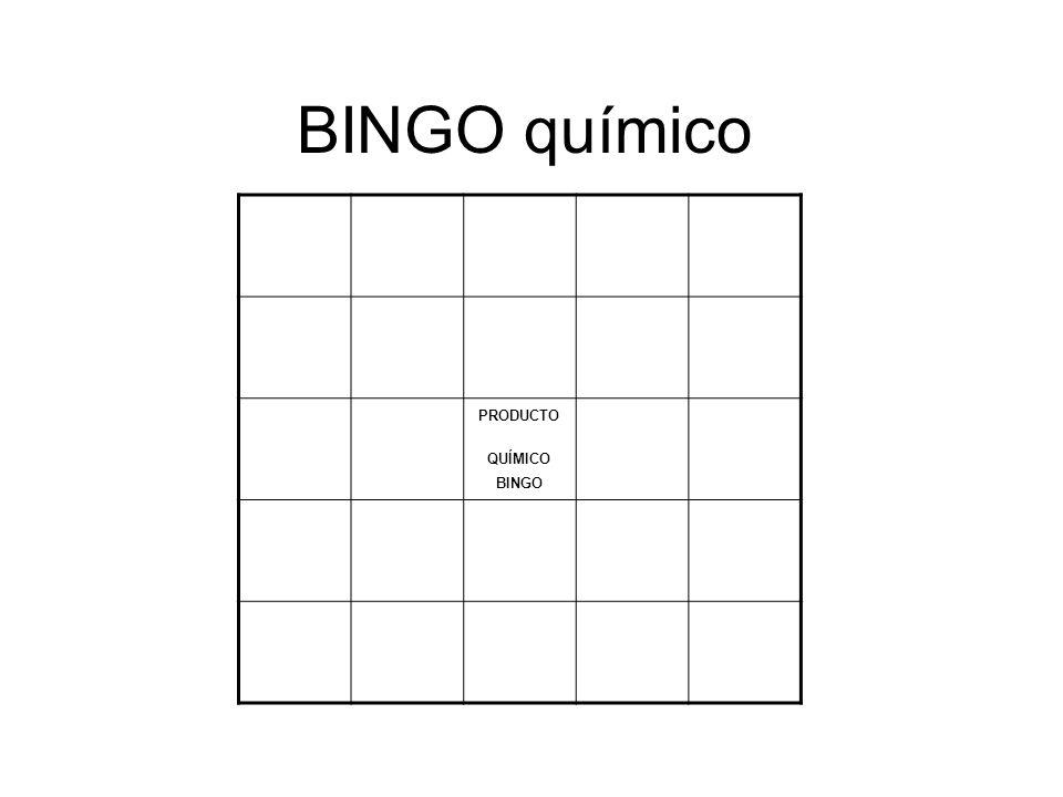 BINGO químico PRODUCTO QUÍMICO BINGO