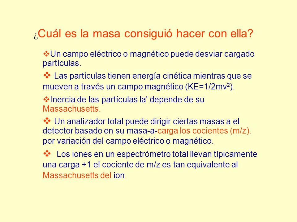 Un campo eléctrico o magnético puede desviar cargado partículas. Las partículas tienen energía cinética mientras que se mueven a través un campo magné