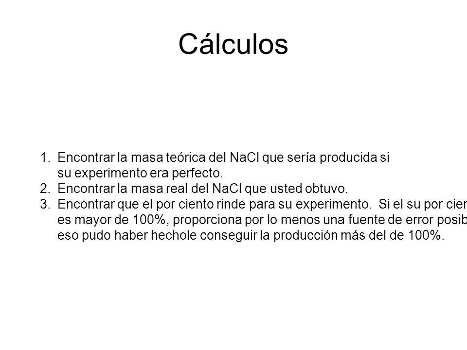 (G)(l) NaHCO 3 Ácido clorhídrico ClH HCO 3 Na Laboratorio del bicarbonato de sosa + + H 2 CO 3 bicarbonato de sosa bicarbonato de sodioácido hidroclóricocloruro sódico sal de tabla H 2 CO 3 H 2 O + CO 2 (G) calor NaHCO 3 + ácido clorhídrico NaCl + H 2 O + CO 2 5 g exceso gas x g producción teórica ¿ .