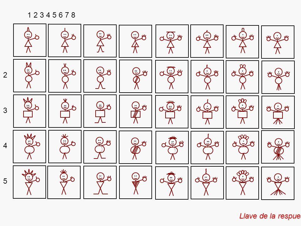 Llave de la respuesta 1 2 3 4 5 6 7 8 2 3 4 5