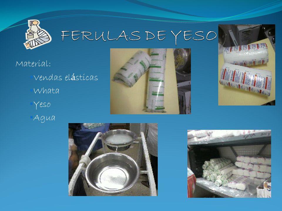 Material: Vendas el á sticas Whata Yeso Agua