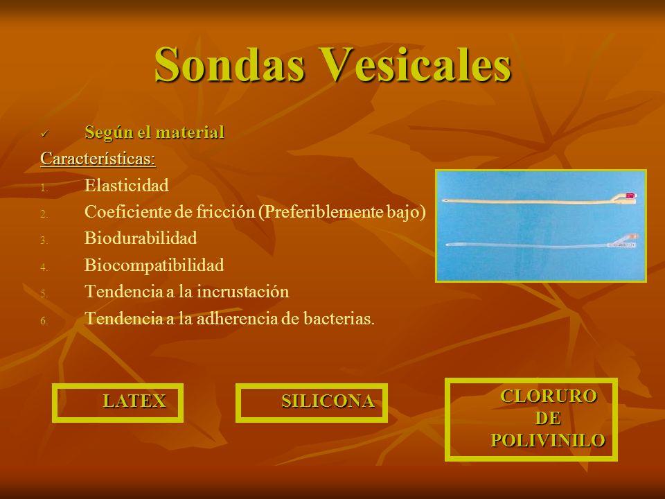 Sondas Vesicales Según el material Según el materialCaracterísticas: 1.