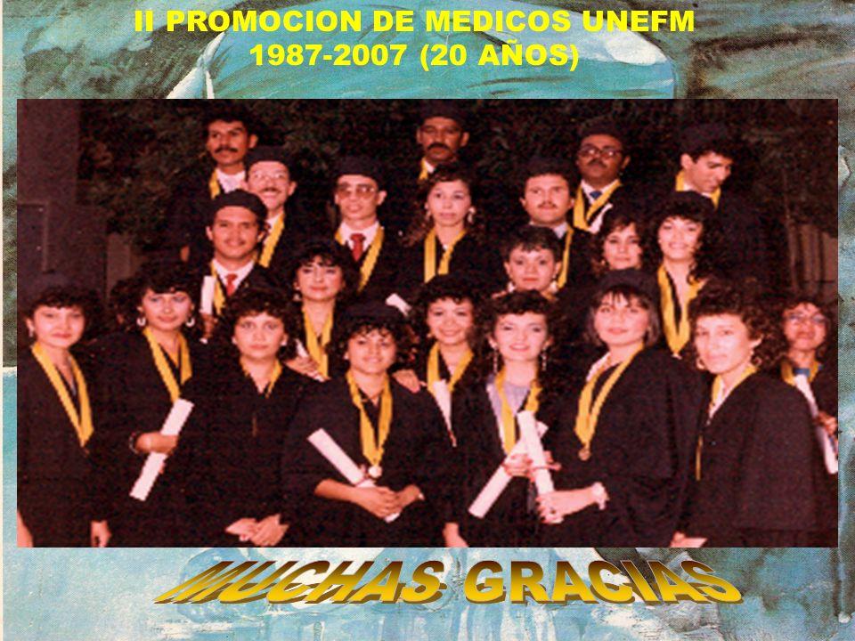 II PROMOCION DE MEDICOS UNEFM 1987-2007 (20 AÑOS)