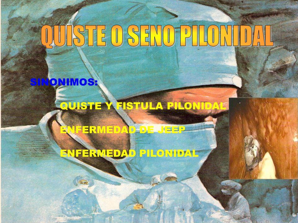HISTORIA 1883(MAYO) INFORMA EL CASO DE UNA MUJER CON FISTULA EN REGION SACROCOCCIGEA DE CONTENIDO PILOSO.