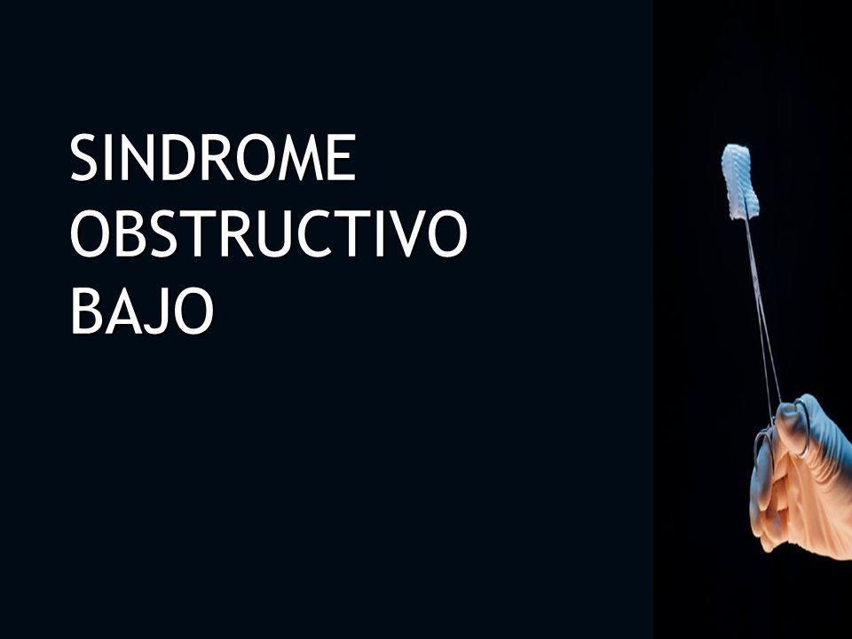 Las causas de obstrucción de los tractos medio e inferior son: Estenosis Uretral.