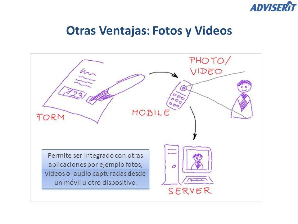 Permite ser integrado con otras aplicaciones por ejemplo fotos, videos o audio capturadas desde un móvil u otro dispositivo.