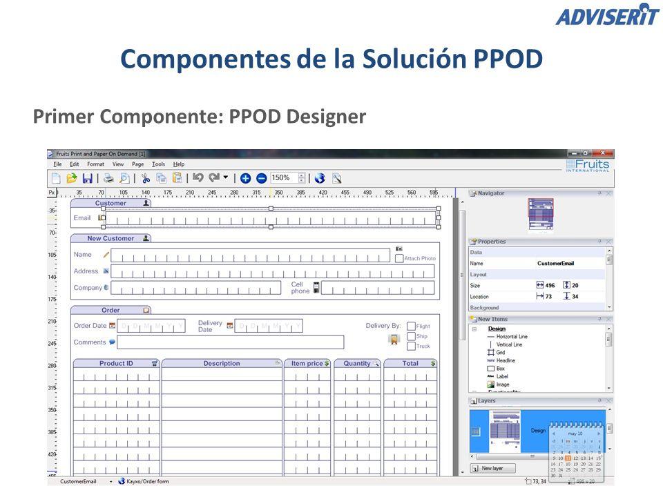 Segunda Componente: PPOD Server Recibe y convierte los formularios (escritos a mano) en registros de bases de datos XML.