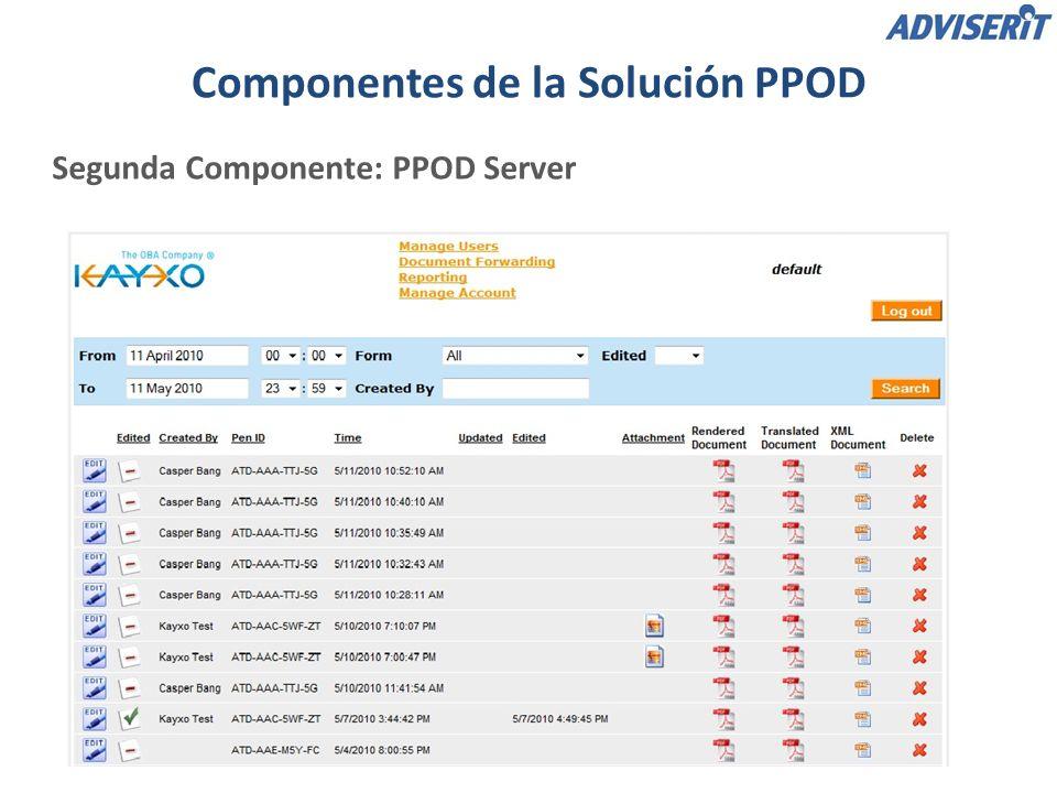 Tercera Componente: PPOD Web Portal La función de Corrección Web permite corregir a mano las traducciones de los datos escritos.